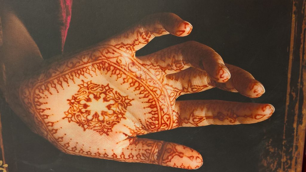 Henna tattoo body art