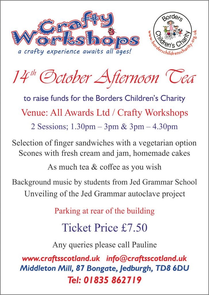 crafty workshops afternoon tea